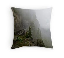 Road into the Clouds Throw Pillow
