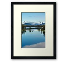 Mountain Lakes Framed Print