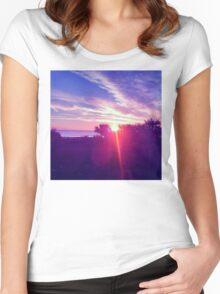 Cocoa Sunrise Women's Fitted Scoop T-Shirt