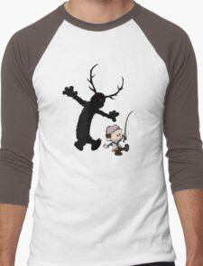 Gone Fishin' Men's Baseball ¾ T-Shirt