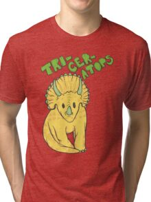 Triceratops Tri-blend T-Shirt