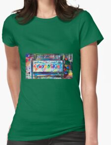 crayon skies Womens Fitted T-Shirt