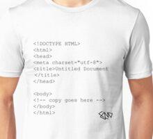 Document type = HTML Unisex T-Shirt