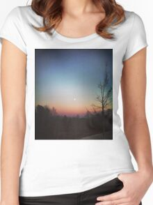 Winter Sunset Women's Fitted Scoop T-Shirt