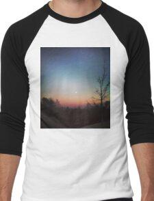 Winter Sunset Men's Baseball ¾ T-Shirt