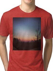 Winter Sunset Tri-blend T-Shirt