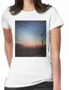 Winter Sunset Womens Fitted T-Shirt