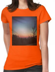 Winter Sunset Womens Fitted T-Shirt