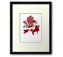 RWBY red rose Framed Print