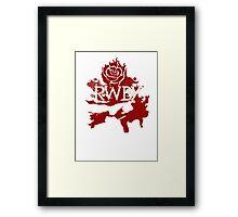 RWBY red rose Framed Print