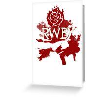 RWBY red rose Greeting Card