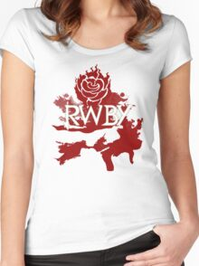 RWBY red rose Women's Fitted Scoop T-Shirt