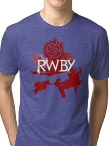 RWBY red rose Tri-blend T-Shirt