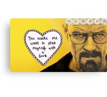 Walter White and his fork Metal Print