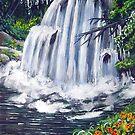 hidden waterfall by LoreLeft27