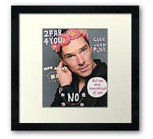 Benedict Cumberbatch is a sassy gurl.  Framed Print
