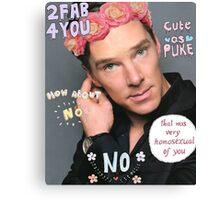 Benedict Cumberbatch is a sassy gurl.  Canvas Print