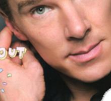 Benedict Cumberbatch is a sassy gurl.  Sticker