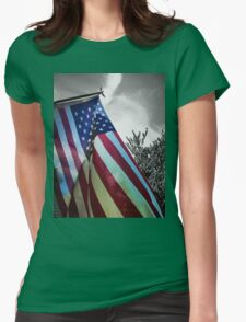 Home of the Free Womens Fitted T-Shirt