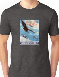 Wings Over America -- Air Corps WWII Unisex T-Shirt