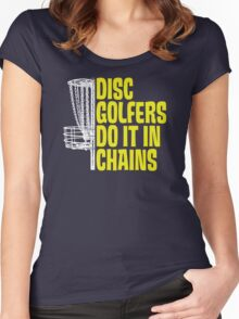 Disc Golfers Do It In Chains (Dark Shirts) Women's Fitted Scoop T-Shirt