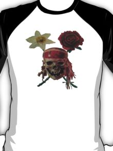 Skull And Cross Blooms T-Shirt