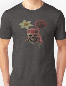 Skull And Cross Blooms Unisex T-Shirt