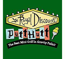 Gravity Falls Mini Golf - Turf Green Photographic Print