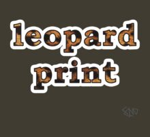Leopard print by minoaka-designs