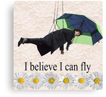 Benedict Cumberbatch is flying through the air! Canvas Print