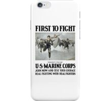 First To Fight -- US Marine Corps iPhone Case/Skin