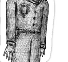 Tall Interesting Man Sticker