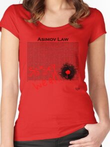 Asimov Law - so say we all Women's Fitted Scoop T-Shirt
