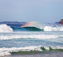 Wave and Rainbow by loveandwater