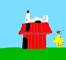 Snoopy and Woodstock Peanuts Characters  by ArtsByDesign