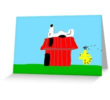 Snoopy and Woodstock Peanuts Characters  Greeting Card