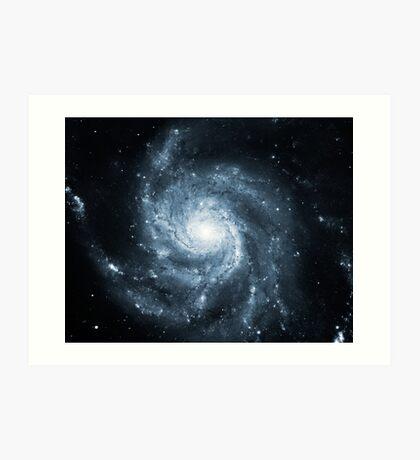 Whirlpool Galaxy [Dark Blue] | Fresh Universe Art Print