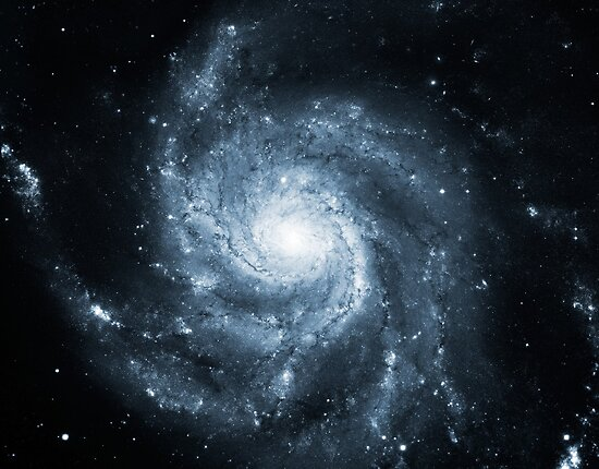 Whirlpool Galaxy [Dark Blue] | Fresh Universe by SirDouglasFresh