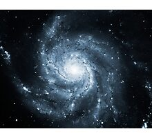 Whirlpool Galaxy [Dark Blue] | Fresh Universe Photographic Print