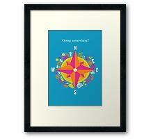 Travel Compass Framed Print