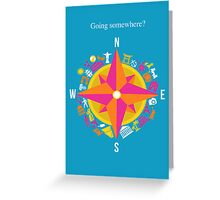 Travel Compass Greeting Card