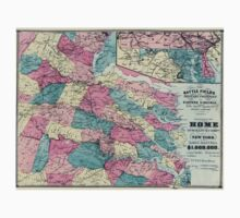 Civil War Maps 1730 The battle fields and military positions in eastern Virginia from surveys supplied by officers of the army One Piece - Short Sleeve