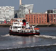 Ferry on the Mersey by Marg Thomson Photography