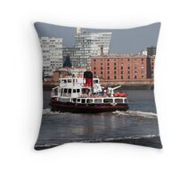 Ferry on the Mersey Throw Pillow