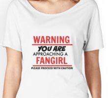 Warning Fangirl T-Shirt Women's Relaxed Fit T-Shirt