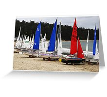 Boats by the sea  Greeting Card