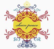 share peace (color) Kids Tee