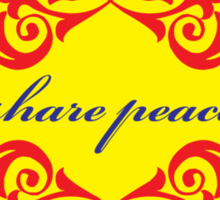 share peace (color) Sticker