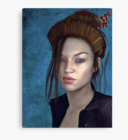 Sombre Muse Canvas Print