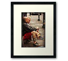 Hanging out in Hosier Lane Framed Print